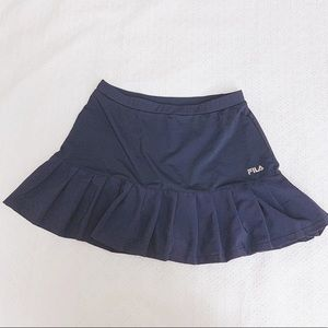 Navy Fila workout tennis skort skirt short Small